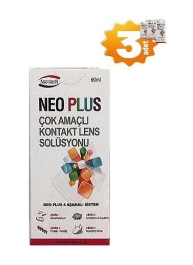 Neo Plus Neo Plus 3' lü Çok AmaÇlı Kontak Lens Solüsyonu 60 ml Renksiz